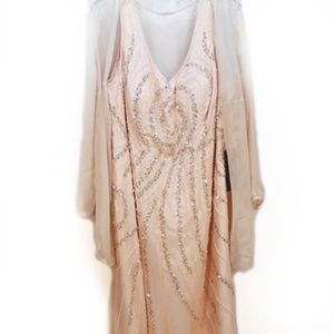 IZIDRESS Peach Gown  NWT